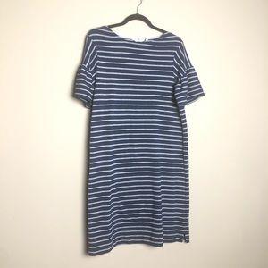 Vineyard Vines bell ruffle sleeve striped dress